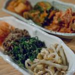 焼肉居酒屋 マルウシミート - ナムル盛り合わせ【2015年2月】