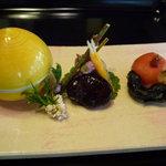 杉の井 - ☆前菜の3種盛り合わせも…いろいろ楽しめる内容です☆