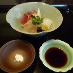 杉の井 - ☆お造りは…塩と醤油で食します☆