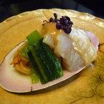 杉の井 - ☆タイラギ貝と蛤の黄身酢掛け(#^.^#)☆