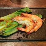 35711499 - 海老と青梗菜のガーリックソテー