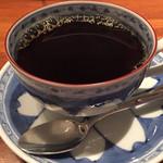 月光茶房 - パナマコーヒー。茶器も素敵です。