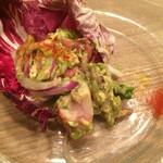 PASTA HOUSE AWkitchen FARM - プリフィクスコース (前菜) タコとアボカドのガーリックセビーチェ