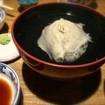 粋場蕎麦 ひさ奈 - 料理写真:そばがき