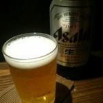 Zen - スーパードライ(大瓶)でおつかれさんの一杯