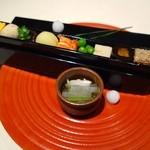 茶屋 青柳 - 名物 文箱八寸(1301円)