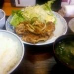 季節料理神楽 - 料理写真:Aランチ(生姜焼き)