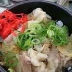 赤塚パーキングエリア(上り線) スナックコーナー - 「赤塚ら~麺ミニイベリコ豚丼セット」(900円)の丼