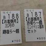 赤塚パーキングエリア(上り線) スナックコーナー - 食券