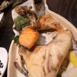 活け活け魚ー魚ー - ブリカマ塩焼き