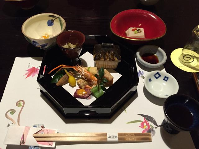 山みず木 - 海老芋豆腐 クコの実