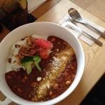 モノイレ カフェ - 挽き肉とお豆のトマトチーズカレー