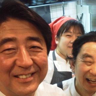 安倍総理ご来店!!安倍シートは新大阪のパワースポット?