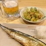 トサカトモミジ - 塩もみキャベツと糠サンマ