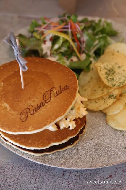 ルサ ルカ 東京自由が丘店 - Pancake サンドウィッチ