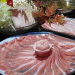味彩 - 人気NO,1☆総州三元豚とレタスのしゃぶしゃぶコラーゲンたっぷりの塩味スープです! 一人前¥1600