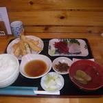 蔵 - 天麩羅・刺身定食