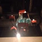 神田基地 - ワイン瓶のシャンデリア