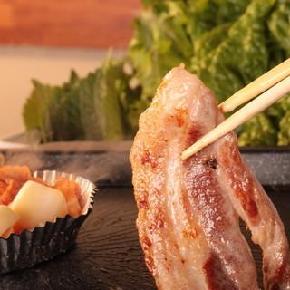 【サムギョプサル】鹿児島のブランド豚「三味豚」を使用!