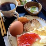 ひなた - トーストのモーニング 380円(税込)