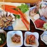 男鹿海鮮料理 三代目ほたる - マル特ほたる定食(1500円)アップその1