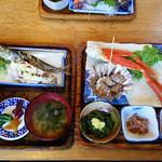 男鹿海鮮料理 三代目ほたる - マル特ほたる定食(1500円)