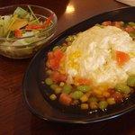 茶和 - 大山米卵の和風純白オムライス890円
