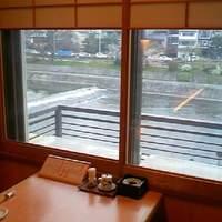かっぱ寿司 - お座敷からの鴨川です