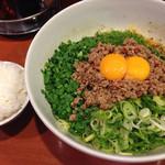 ラーメン21番 - 台湾まぜそば大盛、白飯(小)