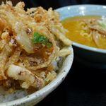 すみれ - 麺類ミニ丼、かきあげ丼。