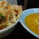 すみれ - 麺類ミニ丼+100円でピリ辛味噌。