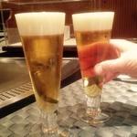 鉄板焼 季流 - 最初はビールで乾杯♪
