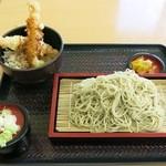 35765335 - 『そばセット(海老天丼)』(税込600円)]