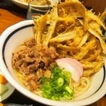うどん屋麺之介 - 肉ごぼう天うどん