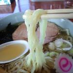佐野手打ちラーメン 永華 - 麺(2015.1月)
