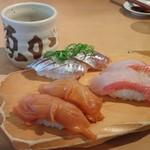35771329 - 赤貝、金目鯛、鯵、