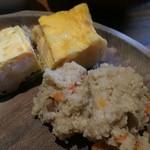 都野菜 賀茂 - おからの炊いたんと五目野菜入り玉子焼き