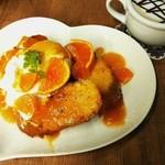 カフェ プリモ パッソ - 【季節限定】オレンジ&マンゴーのフレンチトースト