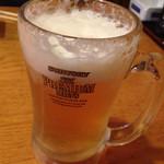 卯屋 - 生ビール