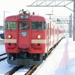食堂 高田屋 - おまけ・滝川駅に入線する711系