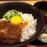 博多漁家磯貝  しらすくじら - 日替わり提供の二色しらす丼!