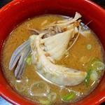 中京 - 鯉汁。鯉こく は、鯉の出汁がしっかりとでてとても美味しいです。わたしはアラも頂きますが、川魚が苦手な方はお汁のみでアラは残された方がいいでしょう。