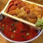 根室食堂 - 豪快ウニイクラ丼(¥2,480−)