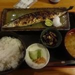 35796039 - 秋刀魚の塩焼き定食