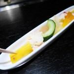 リストランテ・ダ・バッボ - 色とりどりの旬野菜のピクルス