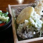 道草 - 天ぷらそば、旬の野菜が美味しかった