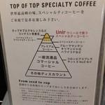 もくれん - その他写真:使用しているスペシャルティコーヒー、Unirの説明