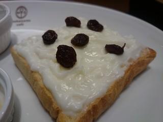 向山製作所cafe  S-PAL郡山店 - ラムレーズンを散らしてみた(^-^)