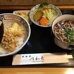 35822723 - 天丼セット(温そば)800円