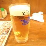 炭火やきとり とっ鳥屋 - 生ビール